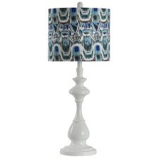 Table Lamp with Designer Fabric Drum Shade