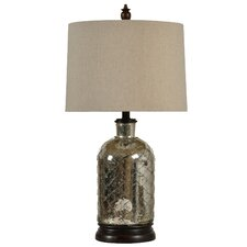 """Netted 26"""" H Table Lamp  with Drum Shade"""