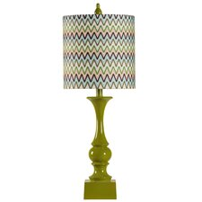 """1950's 31.5"""" H Retro Table Lamp with Hardback Drum Shade"""
