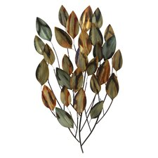 BJ Keith Designs Metal Branch of Autumn Leaves for the Wall