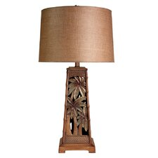 """Palm Tree Tropical Inspired 18"""" H Table Lamp with Empire Shade"""