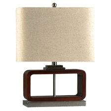 """Contemporary 21.25"""" H Table Lamp with Rectangular Shade"""