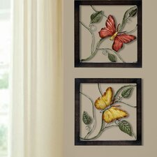 2 Piece Butterfly Wall Décor Set