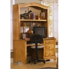 Cottage Computer Desk with Hutch