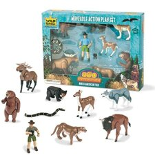 Wild Republic Toy Moveable Action Playset North American