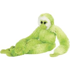 Hanging Gibbon Stuffed Animal in Green