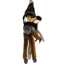 Hanging Douc Langur with Baby Stuffed Animal
