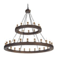 Minstrel 36 Light 2 Tier Pendant
