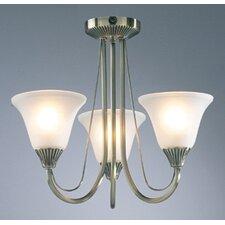 Boston 3 Light Semi Flush Light