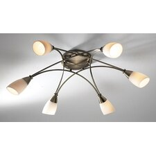 Bureau 6 Light Semi Flush Light