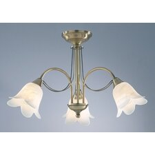 Doublet 3 Light Semi Flush Light