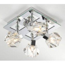 Geo 4 Light Semi Flush Ceiling Spotlight
