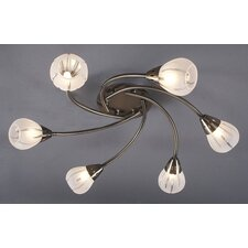 Villa 6 Light Semi Flush Light