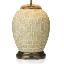 Zuccaro Small Table Lamp Base in Antique Brass