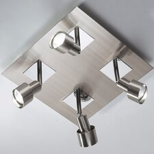 Futura Square 4 Light Ceiling Spotlight