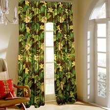 <strong>Rose Tree Linens</strong> Rainforest Cotton Curtain Panel (Set of 2)