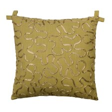 Tuscan Garden Cotton Ribbon Pillow