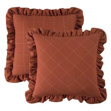 <strong>Rose Tree Linens</strong> Hamilton Ruffled Plaid Pillow