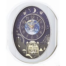 <strong>Rhythm U.S.A Inc</strong> Peaceful Cosmos Entertainer Melody Wall Clock