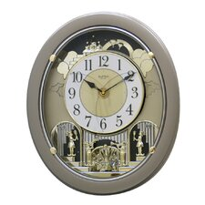 <strong>Rhythm U.S.A Inc</strong> Golden Stars Melody Wall Clock