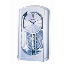 Silver Mirrored Motion Clock