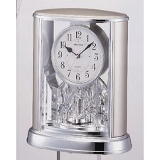 <strong>Rhythm U.S.A Inc</strong> Silver Teardrop Clock