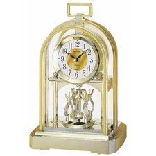 <strong>Rhythm U.S.A Inc</strong> Contemporary Carriage Table Clock