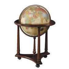 Lafayette Antique Aluminum Floor Globe
