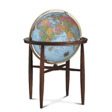 Finley Blue Illuminated World Globe