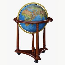 Lafayette Blue Illuminated World Globe