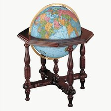 Statesman Blue Illuminated World Globe