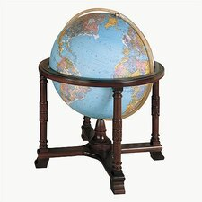 Diplomat Blue Illuminated World Globe