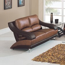 Zoe Leather Loveseat