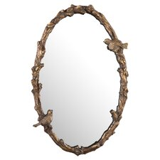 <strong>Uttermost</strong> Paza Oval Mirror in Antiqued Gold