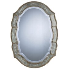 <strong>Uttermost</strong> Fifi Oval Beveled Mirror in Antique Silver