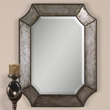 Elliot Mirror in Distressed Hammered Aluminum
