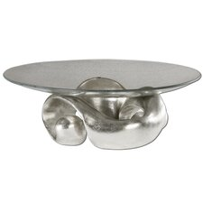 Entwined Bowl in Lightly Champagned Silver Leaf