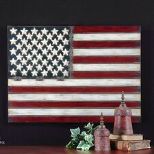 "<strong>Uttermost</strong> American Flag Wall Art by Grace Feyock - 25.75"" X 36""  in Aged Red"