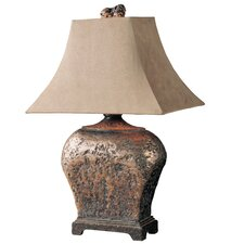 "Atlantis Southwestern Xander 27"" H Table Lamp with Rectangle Shade"