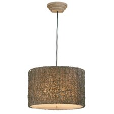 <strong>Uttermost</strong> Woven Rattan 3 Light Drum Foyer Pendant