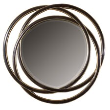 <strong>Uttermost</strong> Odalis Round Beveled Mirror in Matte Black