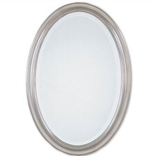 Petite Manhattan Oval Mirror in Champagne Silver Leaf