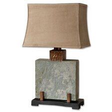 """Slate 29"""" H Table Lamp with Rectangle Shade"""