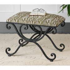 Aleara Wrought Iron Bench
