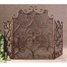 Kora 3 Panel Metal Fireplace Screen
