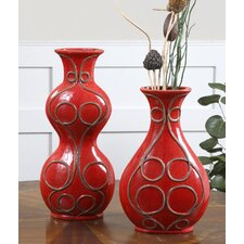 Miaka 2 Piece  Ceramic Vase Set