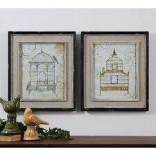 <strong>Uttermost</strong> 2 Piece Bird Cages Wall Art Set