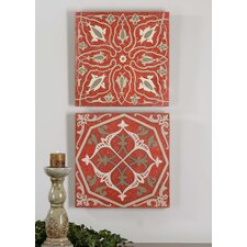 2 Piece Moroccan Tiles Wall Art Set
