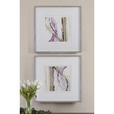 <strong>Uttermost</strong> 2 Piece Honeysuckle Rose Modern Wall Art Set
