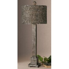 "Sedilo 34"" H Table Lamp with Drum Shade"